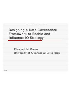 Designing a Data Governance Framework to Enable and ...