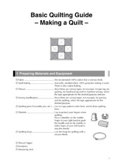 Basic Quilting Guide – Making a Quilt