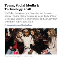 Teens, Social Media & Technology 2018 | Pew Research Center