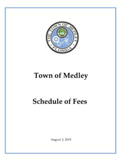 Town of Medley Schedule of Fees