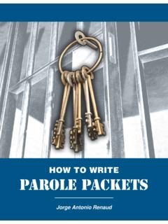 HOW TO WRITE Parole Packets - TCJC | Texas Criminal ...