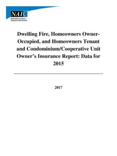 Dwelling Fire, Homeowners Owner- Occupied, and …