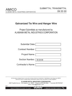 Galvanized Tie Wire and Hanger Wire - amico-lath.com