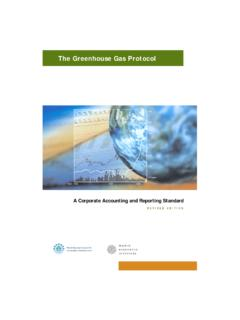 The Greenhouse Gas Protocol - World Resources …