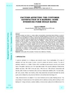 FACTORS AFFECTING THE CUSTOMER …