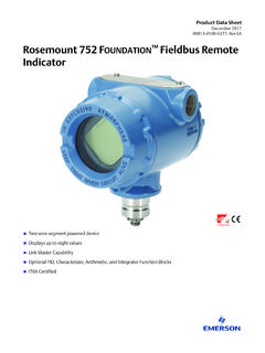 Product Data Sheet: Rosemount 752 FOUNDATION Fieldbus ...