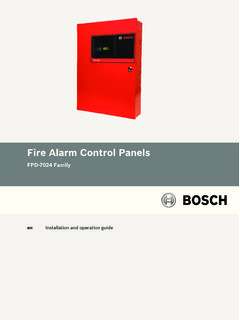 Fire Alarm Control Panels - Bosch Security