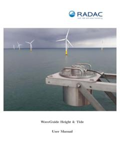 WaveGuide Height & Tide User Manual - Radac, level, tide ...
