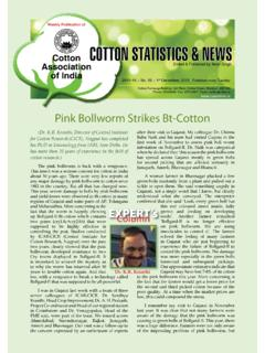 Pink Bollworm Strikes Bt-Cotton