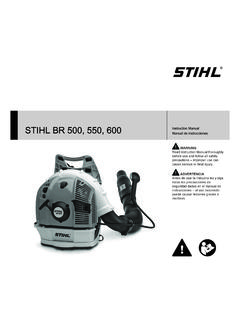 STIHL BR 500, 550, 600 Owners Instruction Manual