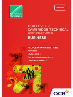 CERTIFICATE/DIPLOMA IN BUSINESS - OCR