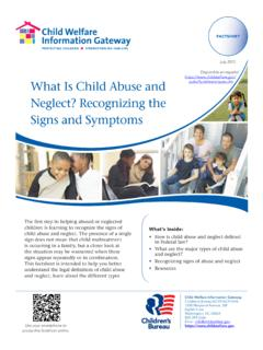 What Is Child Abuse and Neglect? Recognizing the …