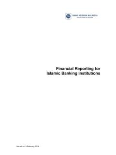 Financial Reporting for Islamic Banking Institutions