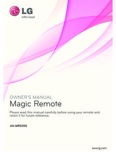 OWNER'S MANUAL Magic Remote - lg.com