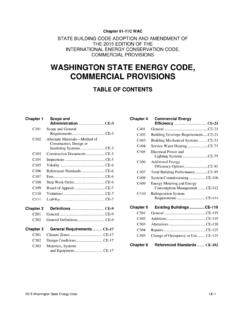WASHINGTON STATE ENERGY CODE, COMMERCIAL …