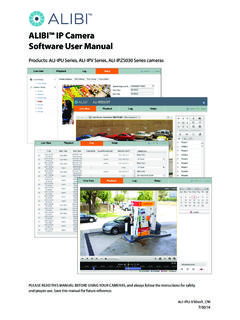 ALIBI™ IP Camera Software User Manual - SuperCircuits