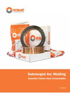 Submerged Arc Welding - Hobart Brothers