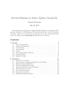 Selected Solutions to Artin's Algebra, Second Ed.