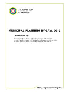 MUNICIPAL PLANNING BY-LAW, 2015