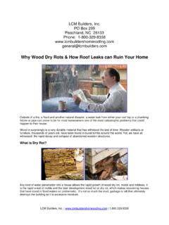 Why Wood Dry Rots & How Roof Leaks can Ruin Your Home
