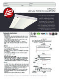 LPEC 2'x4' LED Low Profile Recessed Troffer