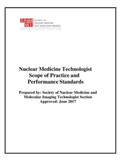 Nuclear Medicine Technologist Scope of Practice and ...
