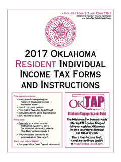 2017 Oklahoma Resident Individual Income Tax Forms and ...