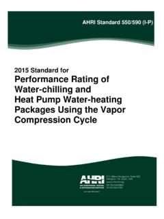 2015 Standard for Performance Rating of Water …