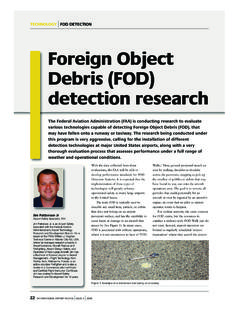 Foreign Object Debris (FOD) detection research