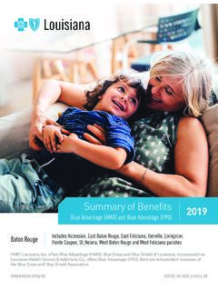 Summary of Benefits 2019 Blue Advantage (HMO) and Blue ...