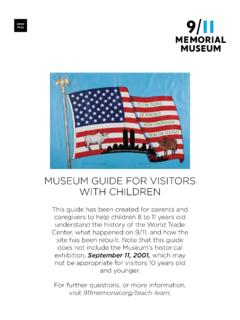 MUSEUM GUIDE FOR VISITORS WITH CHILDREN