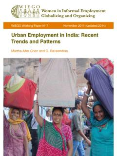 Urban Employment in India: Recent Trends and Patterns