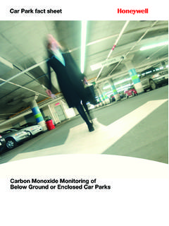 Car Park fact sheet - honeywellanalitik.com