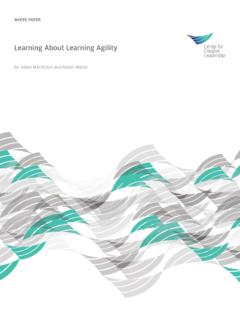 Learning About Learning Agility - CCL