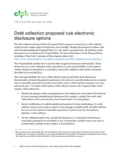 Debt collection proposed rule electronic disclosure options