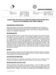 GUIDELINES FOR HEALTH CARE PROVIDERS INTERACTING …