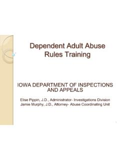 Dependent Adult Abuse Rules Training - Iowa