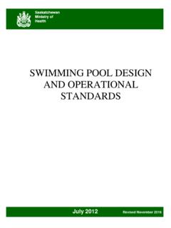 Swimming Pool Standards - Canadian Red Cross