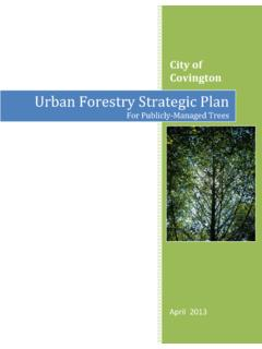 Urban Forestry Strategic Plan - City of Covington