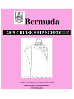 2019 CRUISE SHIP SCHEDULE - marops.bm