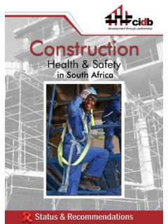 Construction Health & Safety in South Africa; Status ...