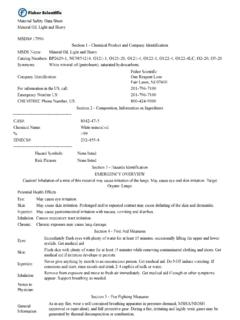 Material Safety Data Sheet Mineral Oil, Light and Heavy