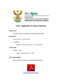Z1(a) Leave for application of absence - North West