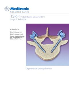 TSRH Pedicle Screw ST - MT Ortho