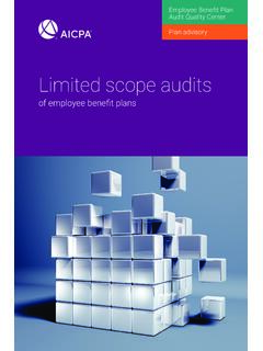 Limited scope audits - AICPA
