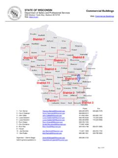 STATE OF WISCONSIN Commercial Buildings Department of ...