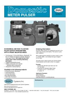 Domestic Meter Pulser - IMAC Systems