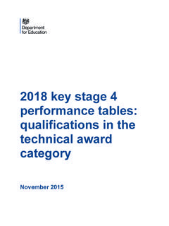2018 key stage 4 performance tables: …