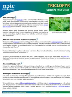 GENERAL FACT SHEET - National Pesticide Information Center