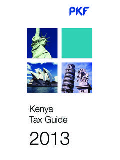 Kenya Tax Guide 2013 - PKF International